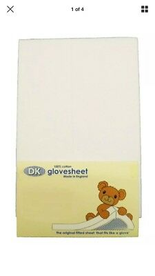 3 DK Glovesheets for Chicco Next to Me& LullaGo Crib Cotton Fitted Sheet 83x50cm