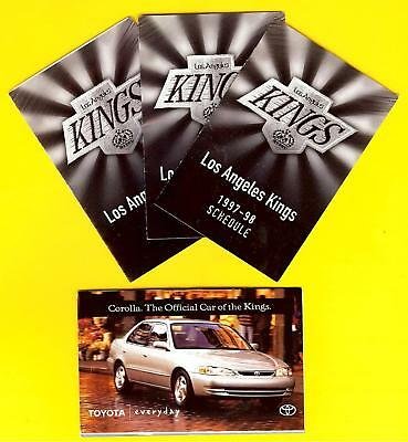 Lot of 3 Los Angeles Kings pocket schedule 1997/98 sponsored by Toyota NHL