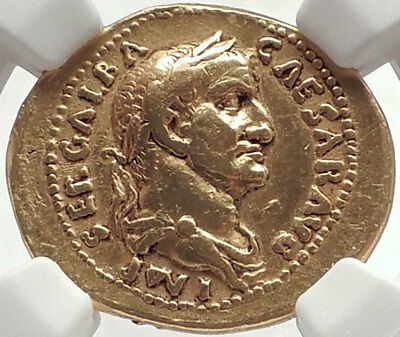 GALBA 69AD Authentic Ancient Roman Gold Aureus EXTREMELY RARE & Pedigreed 1930's