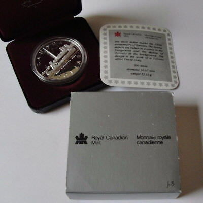 1984 Canada Silver Dollar Proof Toronto With Case And Coa