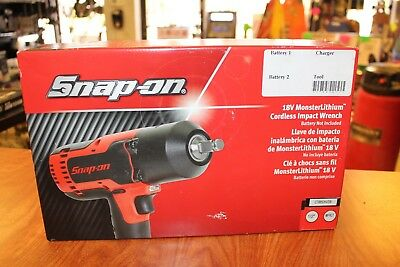 "NEW Snap-on Lithium Ion CT8850HVDB 18V 18 Volt cordless 1/2"" impact Wrench Gun"
