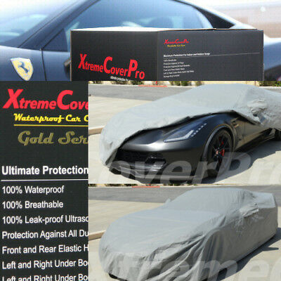 Breathable Fabric Waterproof Gold Series Black XtremeCoverPro Car Cover Custom Fit Series for Chevrolet Chevy Corvette Coupe Convertible C7 2014~2018 UV Resistant