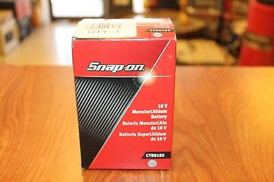 SNAP-ON TOOLS 18 V 4.0 Ah MonsterLithium Ion Slide-on Battery CTB8185 NEW N BOX