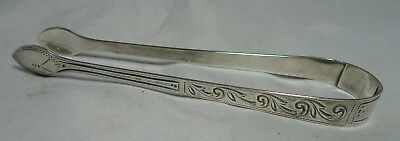 Georgian Silver Sugar Tongs Peter Ann & William Bateman London c1800 31g A650917