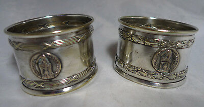 Antique Silver Plated Napkin Rings Battle Of Albert France 1914 / 1917 A656917