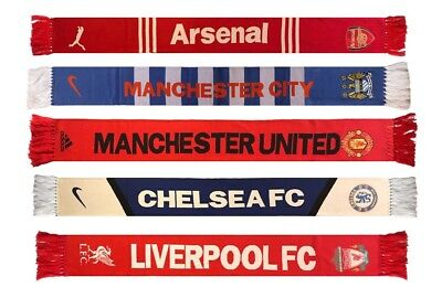 Football scarf Arsenal, Chelsea, Liverpool, Manchester City, Manchester United