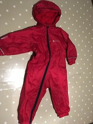 Toddler (12-18 month) Waterproof all-in-one suit by Mountain Warehouse in Red