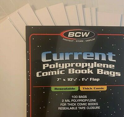 10 Acid Free Pre Made Comic Book Bags And Boards Modern / Current Bcw New