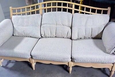 Ethan-Allen Vintage Wood-Frame Couch (FOR CHARITY)