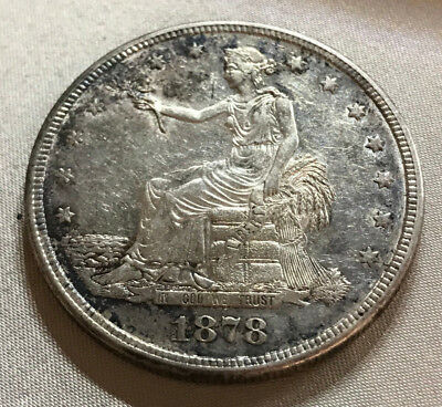 1878-S Choice Almost Uncirculated Trade Dollar - Estate Found -