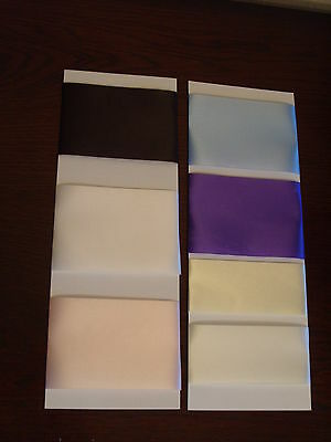 Single Sided Satin Ribbon 72mm 48mm 36mm wide 2 metre lengths various colours