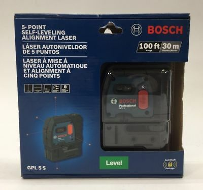 Bosch-5-Point-Self-Leveling-Alignment-Laser-Level-100ft-30m-Model-GPL-5-S-NEW