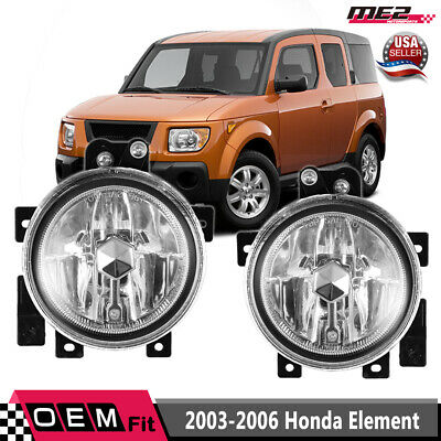 Fit 2005-06 Honda CR-V Fog Lights Bumper Lamps Clear w// Switch//Relay//Wire//Bulbs
