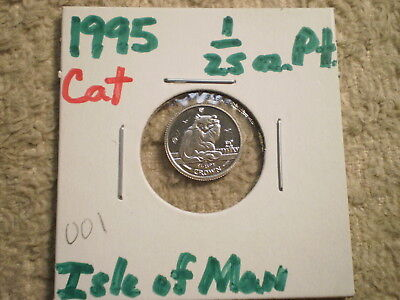 1995 1/25 Oz PLATINUM CAT ISLE OF MAN