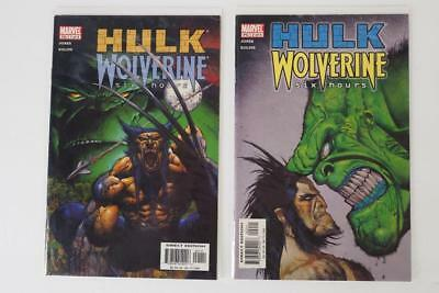 HULK WOLVERINE_SIX HOURS_MARVEL 2003_#1-4 COMPLETE SERIES_FN+ TO VF_No Reserve