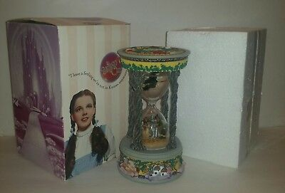 Wizard Of Oz Hourglass Musical Snow Water Globe San Francisco Music Box Co.1999