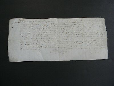 ca. 1588 FRENCH CONTRACT / MANUSCRIPT DOCUMENT on VELLUM Dated 1588