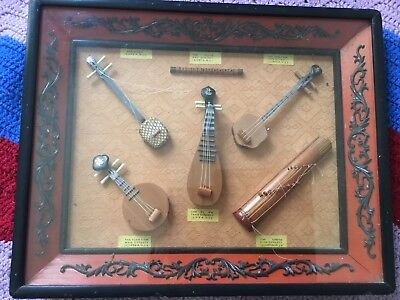 Antique Chinese Collection Of Musical Instruments