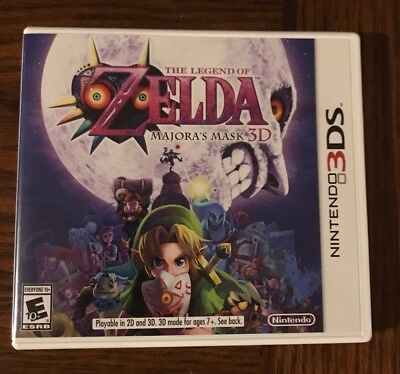 The Legend of Zelda:Majora's Mask 3D (Nintendo 3DS, 2015)with game and no manual