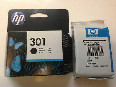Genuine HP 301 Black Ink Deskjet 1000 1510 3050A 2540 2510 CH561EE VAT included