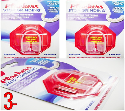 3 x PLACKERS Stop Grinding Dental Night Protector Bruxism TEETH Tooth