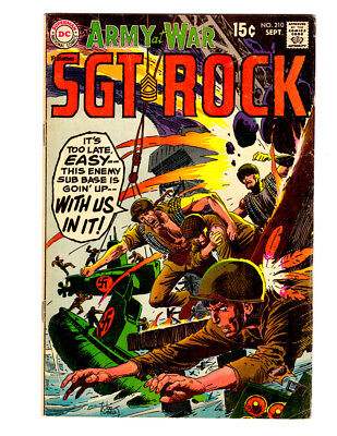 OUR ARMY AT WAR #209 in FN condition 1969 DC WAR comic w/ SGT ROCK