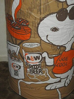 A & W Root Beer Snoopy Joe Cool Inflatable Root Beer Can l@@k blow up sign