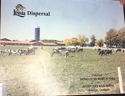1985 Lessia Holstein Cattle Dispersal Sale Catalog
