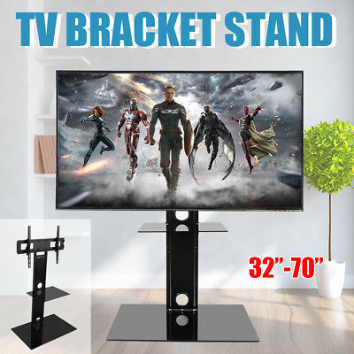 """32-65"""" TV Mobile Stand Mount Bracket With Trolley And Wheels Display Meeting New"""