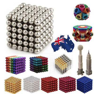 AU 216 3/5mm Magic Magnet Magnetic DIY Balls Sphere Neodymium Cube Luxury Beads
