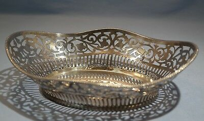 German 835 Silver Reticulated Candy Basket 20th Century