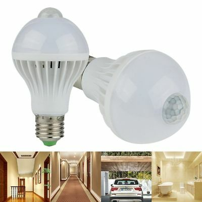 PIR Motion Sensor Auto 5W/7W/9W LED Lamp Bulb Infrared Energy Saving Light