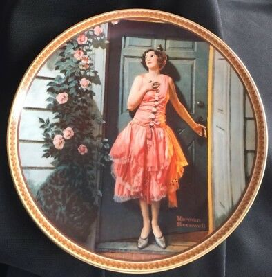 "Norman Rockwell Rediscovered Women Series ""Standing in Doorway"" Collector Plate"