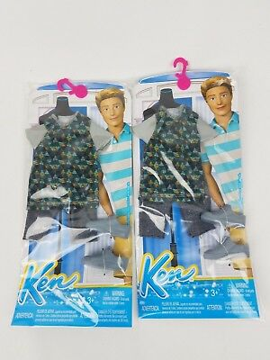 Barbie Fashionistas Ken Doll Fashion & Shoes Casual Outfit Clothing lot of 2