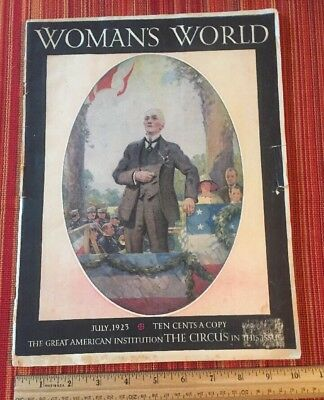 1923 Woman's World Magazine THE GREAT AMERICAN INSTITUTION THE CIRCUS July 1923