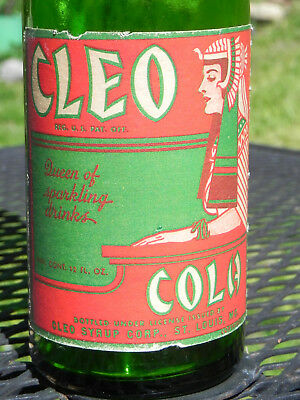 Vintage Cleo Cola Soda Bottle Paper Label Cleopatra St. Louis MO 12 oz