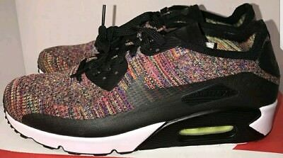 Nike Air Max 90 Ultra 2.0 FLYKNIT NEW MULTICOLOR BLACK 875943-002 Men's  Size 8.5