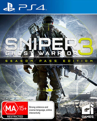 Sniper Ghost Warrior 3 Season Pass Edition PS4 Game NEW