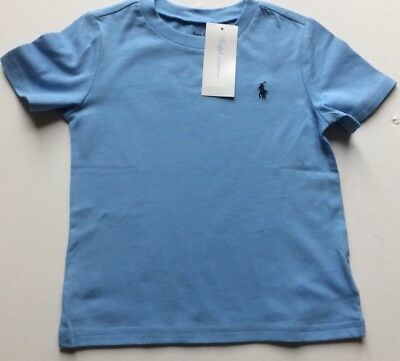 Bnwt Boys Ralph Lauren T Shirt  Age 18  Months Short Sleeve Pale Blue