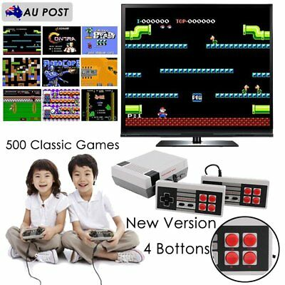 NES TV/PC Game Console Video Game Built-in 500 Classic Games w/ New Controllers