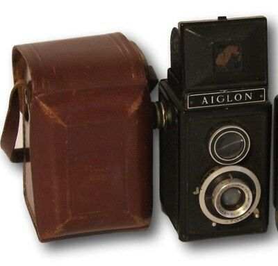 Rex Aiglon Reflex Camera Roussel Trylor Lens & Leather Case Made In France