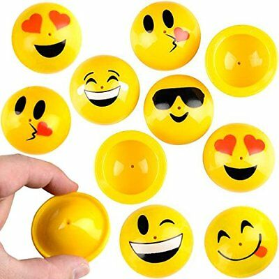 German Trendseller® - 6 x Emoji PoP - UP - Huepfer Mix | Mitgebsel | Kinder
