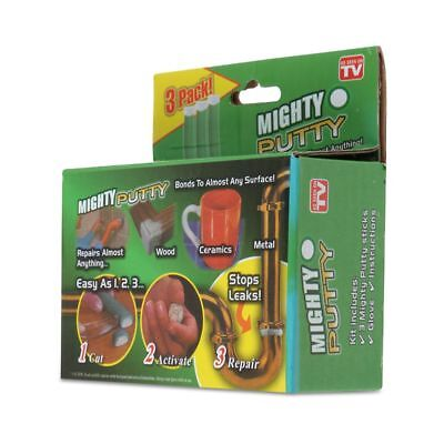 3Pack Magic Mighty Putty Fill Seal Glue Tool With Gloves For Wood Ceramic Metals