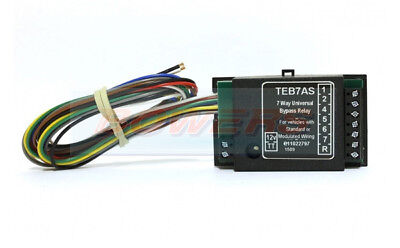 Teb7As 12V Volt 7 Way Universal Upgrade Kit Pass Bypass Relay Towbar Wiring