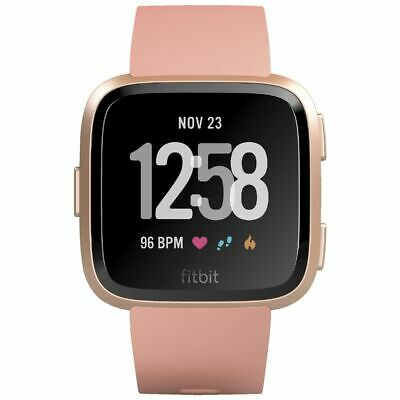 Fitbit Versa Smart Fitness Watch Peach Rose Gold