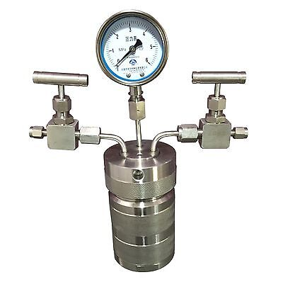 100ml Lab Hydrothermal Synthesis Autoclave Reactor + Inlet Outlet Gauge