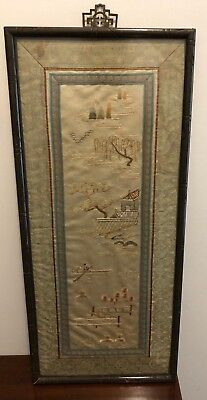 Vintage Asian Material Painting