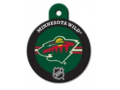 Minnesota Wild Dog ID Tags for Cat ID and other pets - NHL circle
