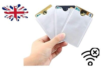 Rfid Blocking Card Sleeve Anti Theft Wallet  Debit Credit Oyster Contactless Lot