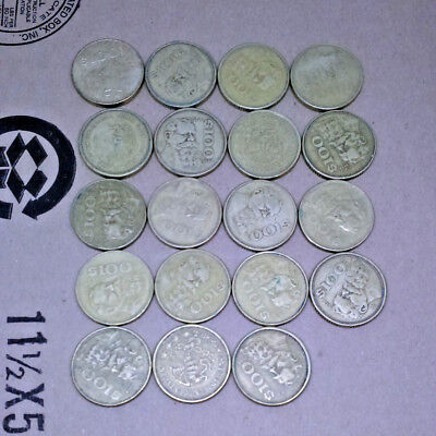 Large Lot 19 Mexico Mexican 100 Pesos Carranza Eagle Coins 80s+ Aluminum-Bronze